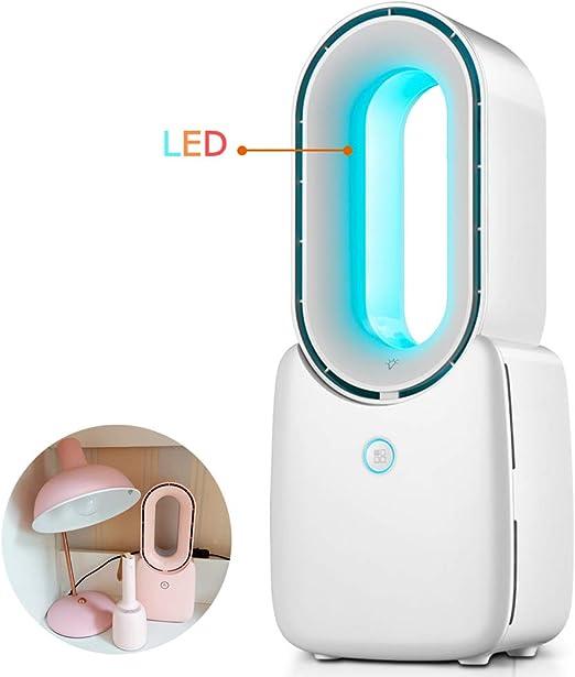 XYNH Portatil Ventiladores Sin Aspas,USB Ventilador Recargable,con Luces LED,Ultra Silencioso,para La Oficina, El Dormitorio, La Cocina,Ventilador Mesa: Amazon.es: Hogar