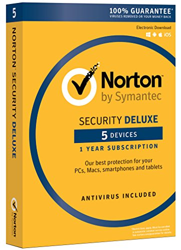 Software : Norton Security Deluxe - 5 Device [Download Code]