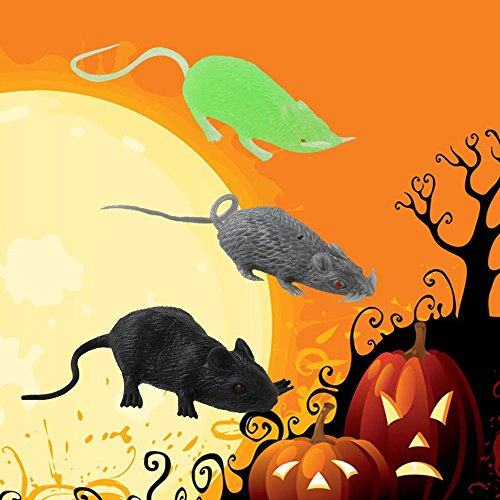 Leegor 3 pcs Halloween Party Tricky Toy Spoof Toys Terror Mouse Prank Model Household Decor Supplies