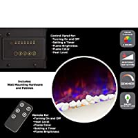 Electric Fireplace- Wall Mounted Color C...