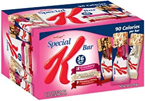 Special K Bars Strawberry, Vanilla Crisp and Chocolatey Drizzle Variety Pack, 36 Bars per Pack