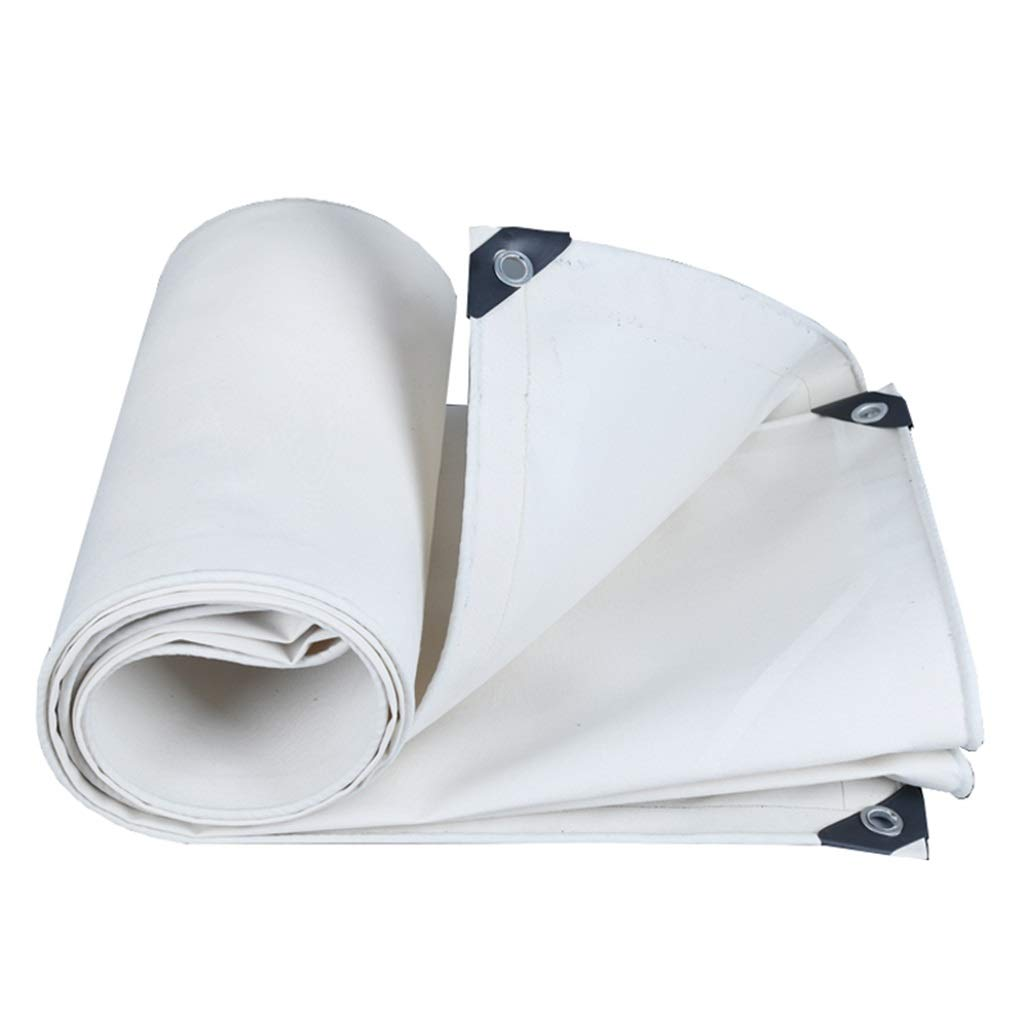 HGNA-Zeltplanen Zelt Zubehör Plane Weiße Polyester-Planen-Bodenplane bedeckt Zelt-Unterlage für Das Kampieren und im Freien - Wasserdichte Abdeckung, Stärke 0.8mm, 500g   m² Idee für Camping Wandern