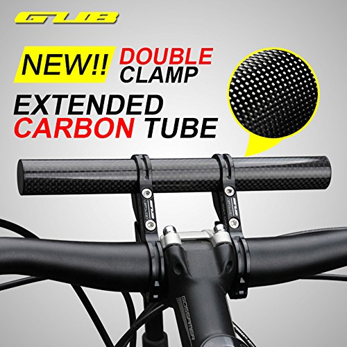 Gub KBROTECH 31.8MM Double Clamp Carbon Fiber Super Long Bike Bicycle Handlebar Extender Extension Light Lamp Phone Mount Bracket Stand Holder Space Saver by Gub (Image #3)
