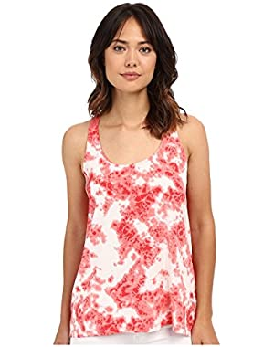 Calvin Klein Jeans Women's Printed Mixed Media Tank