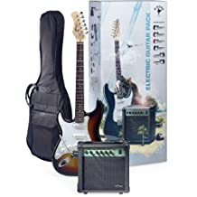 Stagg ESURF 250LHSB US Surfstar Left Handed Electric Guitar and Amplifier Package, Sunburst