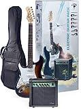 Stagg ESURF 250LHSB US Surfstar Left Handed Electric Guitar and Amplifier Package - Sunburst