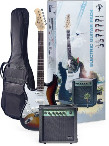 Stagg ESURF 250LHSB US Surfstar Left Handed Electric Guitar and Amplifier Package - Sunburst