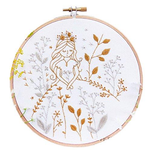 Embroidery Kit For Beginner Garden Princess Girl Design (Skull Embroidery Design)