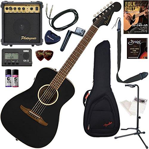 FENDER アコースティックギター 初心者 入門 ストラトヘッド、ショートスケールのエレアコ オール単板仕様 すぐに始められるスタンダード15点セット Malibu Special   B07BNY7M6R