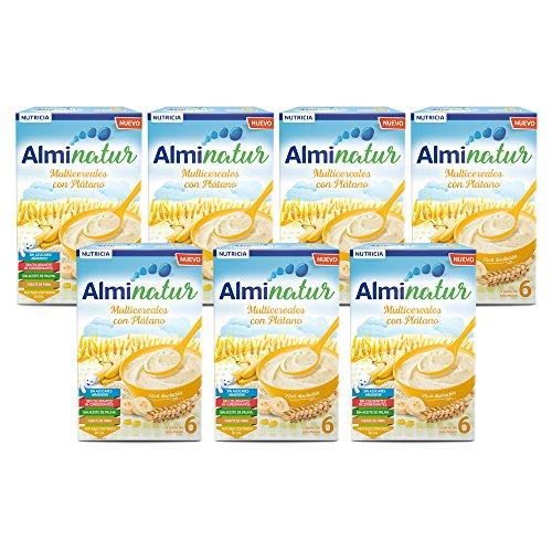 Alminatur Papilla de Multicereales con Plátano a Partir de los 6 Meses Paquete de 7 x 250 g- Total: 1.75 kg: Amazon.es: Alimentación y bebidas