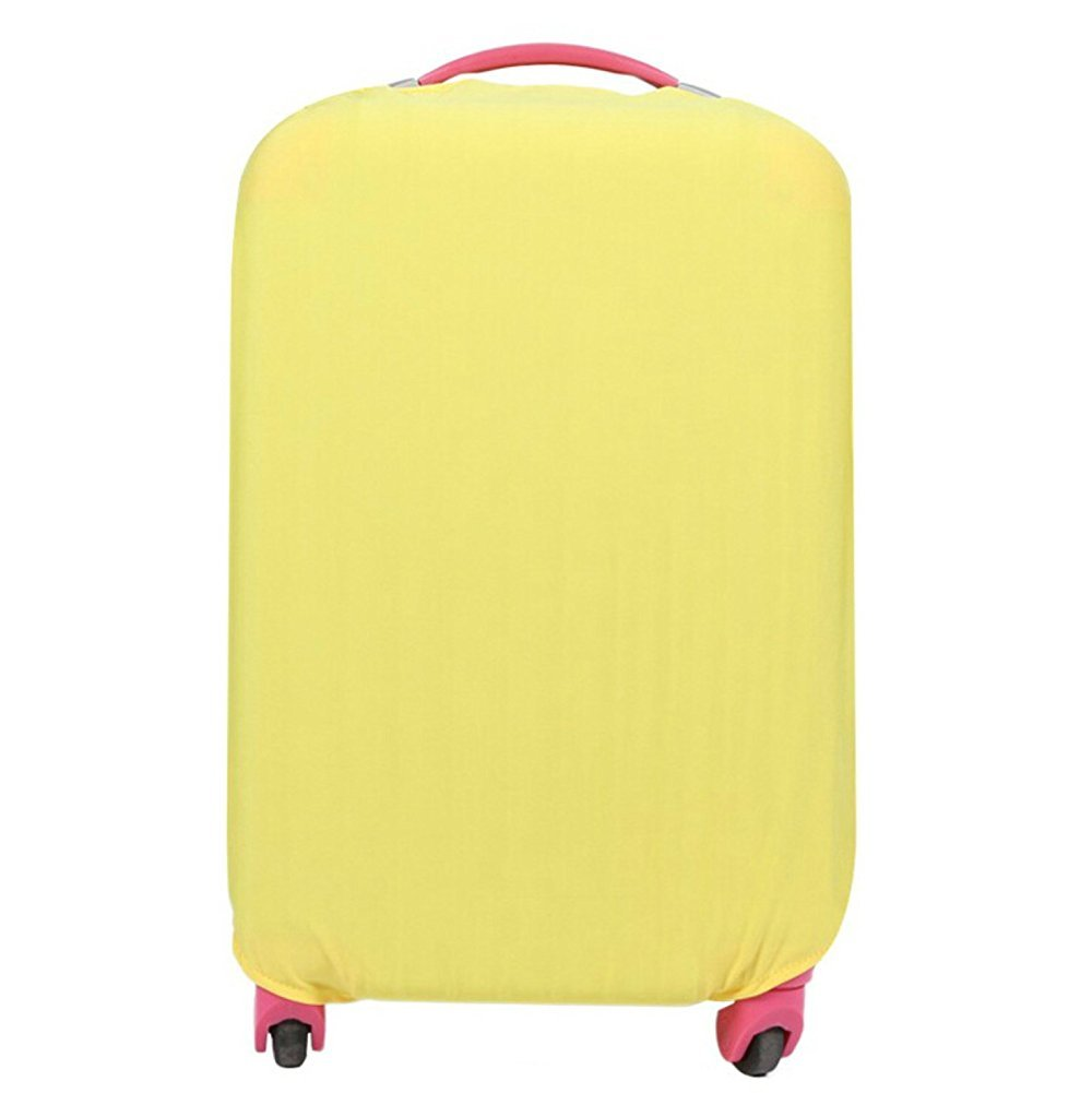 Fanyuan Spandex Travel Luggage Cover Fits (M (22-24 Inch Luggage), Yellow)