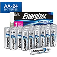 Energizer AA Lithium Batteries, Ultimate Lithium Double A Battery, (24 Count)