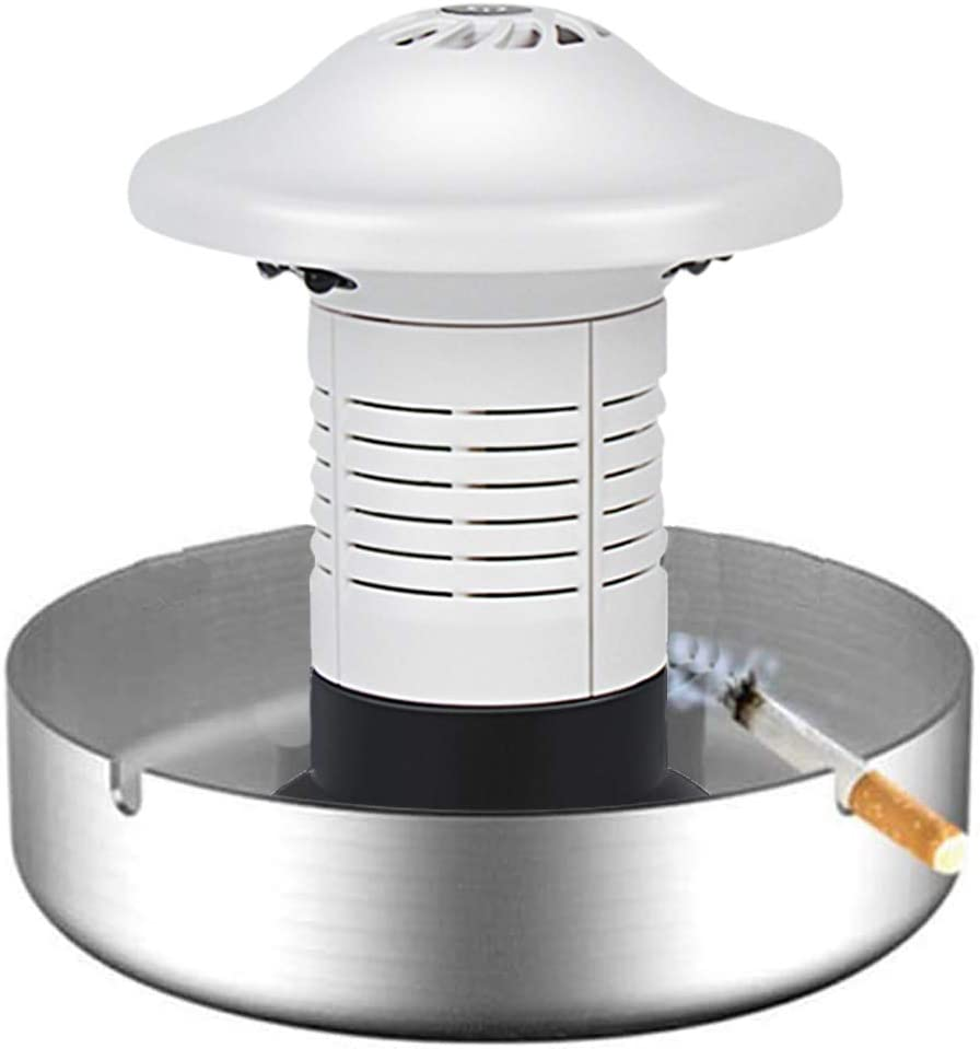 Seihoae Mini Ashtray,Smokeless Multifunction USB Rechargeable Indoor for Home/Office/Car Portable Ashtray Air Purifier