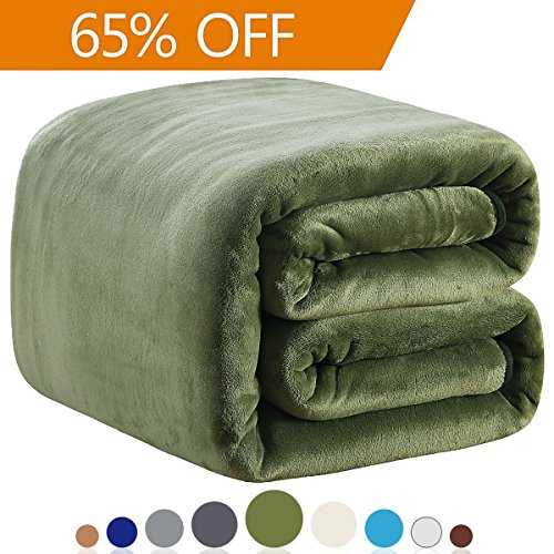 Richave Polar Fleece Blankets Travel Size for The Bed Extra