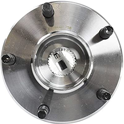 Wheel Hub and Bearing compatible with 97-2008 Chevrolet Corvette Rear Left or Right RWD With ABS Sensor Studs: Automotive
