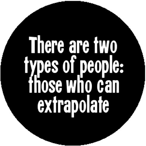 Comedy Badge Button Pin There Are Two Types Of People Those Who Can Extrapolate