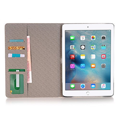 iPad Pro 9.7 inch Case Cover,TechCode Screen Protective Luxury Book Style Folio Case Stand with Card Slots Magnetic Smart Case Cover for Apple iPad Pro 9.7 inch Tablet(iPad Pro 9.7, A01) by TechCode (Image #3)