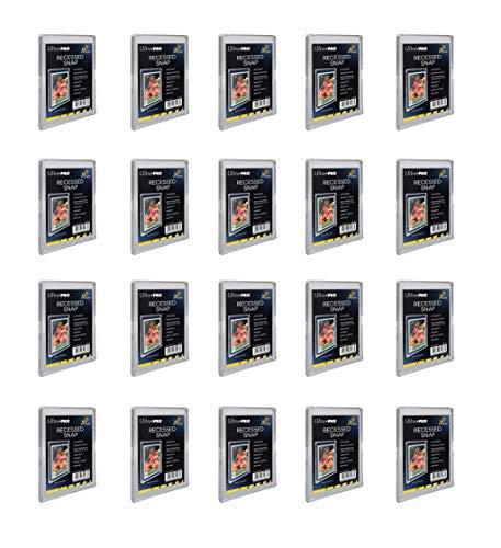 Ultra Pro UV Recessed Mini Snap Card Holder #85938-UV - Bundle of 20 UV Recessed Mini Snaps