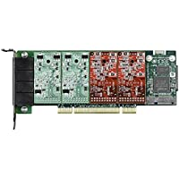 Digium 4 Port Modular Analog PCI-Express x1 Card with 4 Station Interfaces 1A4B05F