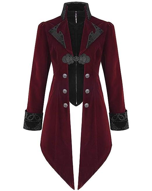 Chaqueta para hombre de la marca Devil Fashion, de terciopelo, gótica, steampunk, aristócrata