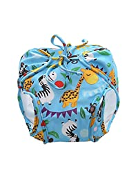 Prettyia Baby Reusable Breathable Swim Diapers Summer Pool Training Pants - Blue(12.5-16.5KG), as described