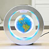 YANGHX Levitation Floating Globe 4inch Rotating Magnetic Mysteriously Suspended In Air World Map Home Decoration Crafts Fashion Holiday Gifts (Blue)