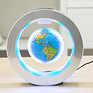 YANGHX Levitation Floating Globe 4inch Rotating Magnetic Mysteriously Suspended in Air World Map Home Decoration Crafts…
