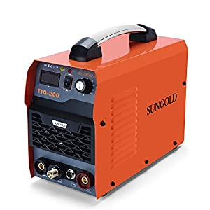 SUNGOLDPOWER 200Amp TIG ARC MMA Stick IGBT DC Inverter Welder System Digital LED Display Welding Machine 110V and 220V With HF Start Complete Package by SUNGOLDPOWER