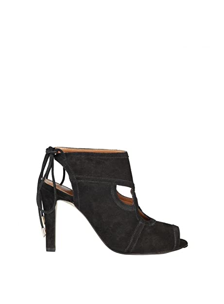 Pierre Cardin Eloise sandali in pelle nera tacco Altezza 10cm Donna