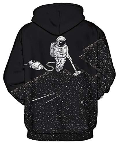 Uomo Ocean Sweatshirt Stampe Animali Pullover Vuoto Cappuccio Felpe Plus Felpa Astronauta Maniche Lunghe Galassia Con ALRj54