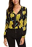 Urban CoCo Women's V Neck Long Sleeve Floral Print Blouse (M, 1)