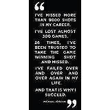 Michael Jordan Beautiful Success Inspirational Motivational Quote - Poster Print 8x17