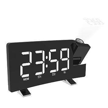 Radio Despertador Digital Proyector, Reloj de proyección de ...