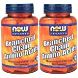 【2個セット】NOW BCAA 120粒 分岐鎖アミノ酸BCAA(Branched Chain... [海外直送品]