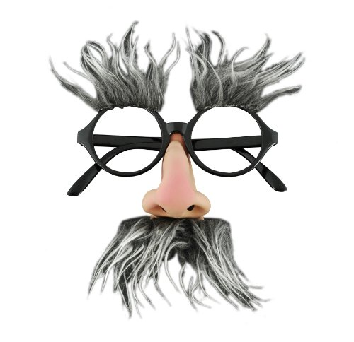 Adult STD- Geezer/Groucho Marx Glasses (Old Man Costume)