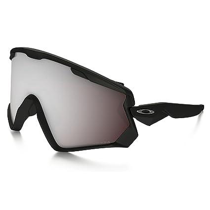 932f7df8159a9 Oakley Wind Jacket 2.0 Snow Goggles, Matte Black, Prizm Black Iridium, One  Size