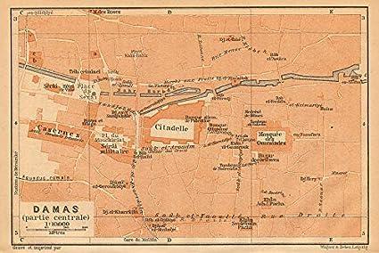 Amazon.com: Damascus Centre Antique Town City Plan. Syria ... on pakistan map, tunis tunisia map, damascus oregon map, asma al-assad, kabul afghanistan map, amman jordan map, baghdad map, world map, jerusalem map, beirut lebanon map, bahrain map, golan heights map, ancient damascus map, istanbul map, damascus steel, middle east map, rome italy map, arabian sea map, bashar al-assad, algiers algeria map, mid east map, damascus citadel, tripoli lebanon map, tel aviv,