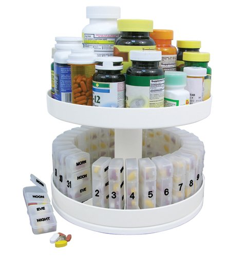 Jobar International, Inc. (a) Revolving Medicine Center W/31daily Pill Compartments by Jobar