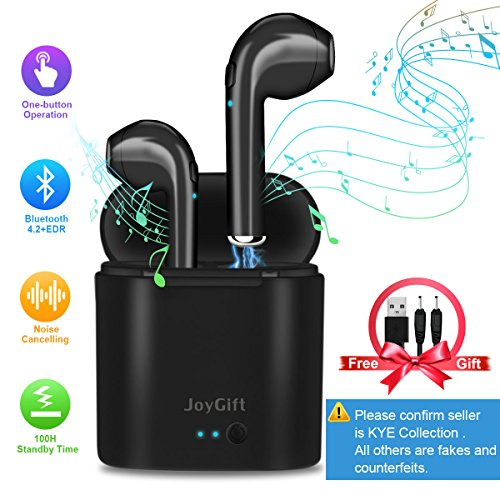 Wireless Earbuds,Bluetooth Earbuds Wireless Headphones In Ear Earphones Mini Stereo Earpiece with Noise Cancelling Mic and Charging Case for iPhone X 8 Plus 7 6 6s 5 IOS Samsung Galaxy Android Phones