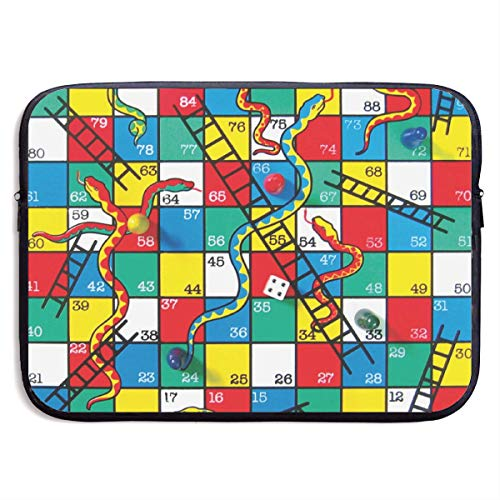 Funny Design Snakes and Ladders Game Laptop Sleeve Waterproof Neoprene Diving Fabric Protective Briefcase Laptop Bag for IPad, Notebook/Ultrabook/Acer/Asus/Dell