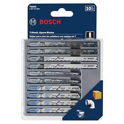 Bosch T5002 10-Piece Assorted T-Shank Jig Saw Blade Set from Bosch
