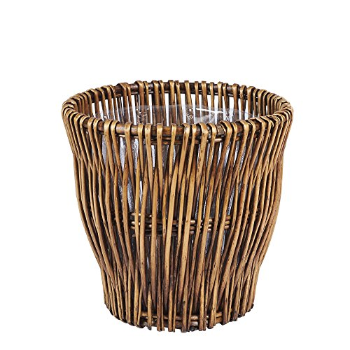 Household Essentials ML-2225 Small Reed Willow Waste Basket ()