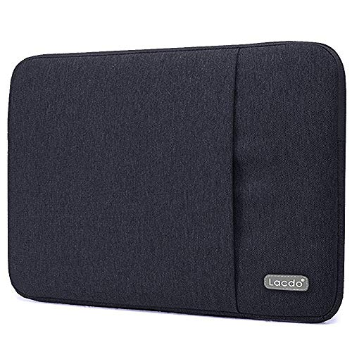 Lacdo 15 Inch Water Resistant Laptop Sleeve Computer Case for 16-inch New MacBook Pro A2141 2019-2020 | 15 MacBook Pro Touch Bar (A1990 A1707 2012-2018) | Microsoft Surface Book 2 Notebook Bag, Black