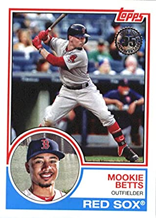 Amazoncom 2018 Topps 83 Topps 83 4 Mookie Betts Boston Red Sox