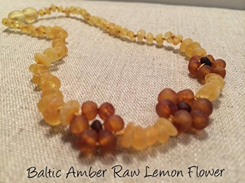 Raw Unpolished 13 Inch Baltic Amber Teething Necklace Teething and Growing Pain Cramps by Baltic Essentials