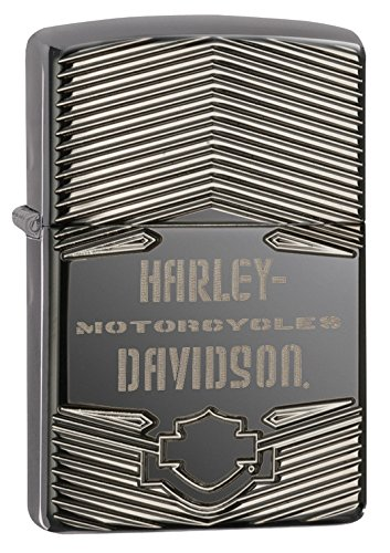 Zippo Harley-Davidson Logo 1903 High Polish Pocket Lighter, Black ()