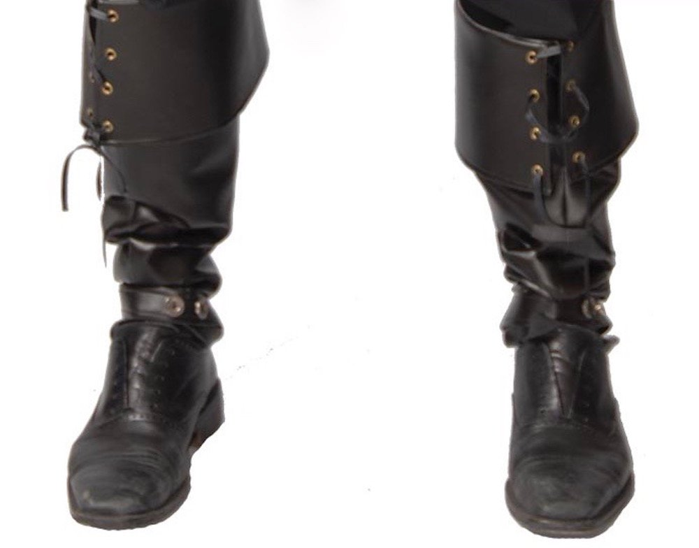 Herren Stiefelstulpen Leder-Optik GUI Boot Cover für Piraten Steampunk Krieger
