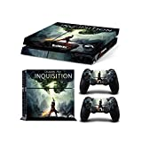 Sony PlayStation 4 Console Skin Decal Sticker Set - Dragon Age: Inquisition (1 Console Sticker + 2 Controller Stickers, Style 2)