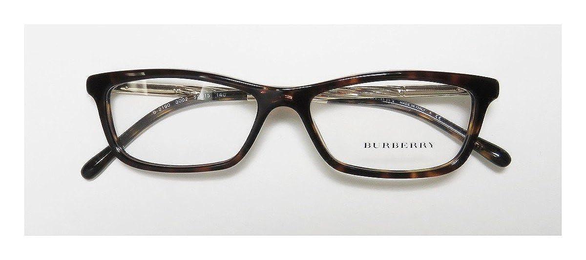 fb9f400359 BURBERRY Eyeglasses BE 2190 3002 Dark Havana 52MM at Amazon Men s Clothing  store