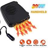 Portable Car Heater Fan Cooler, Vehicle Defrost Defogger Automobile, Heating and Cooling, 12 V 2 in 1 Windshield Defrost